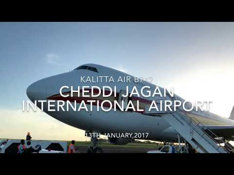 B747 Departing Cheddi Jagan Int'l (Guyana)