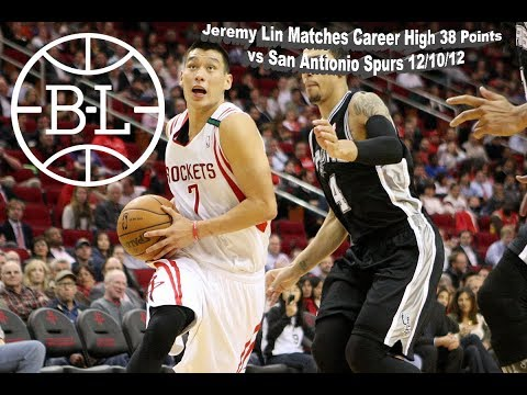 Jeremy Lin Matches Career High 38 Points vs San Antonio Spurs 12/10/12