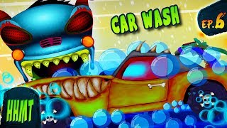 Car Wash Haunted House Monster Truck Videos for Kids | EP#06