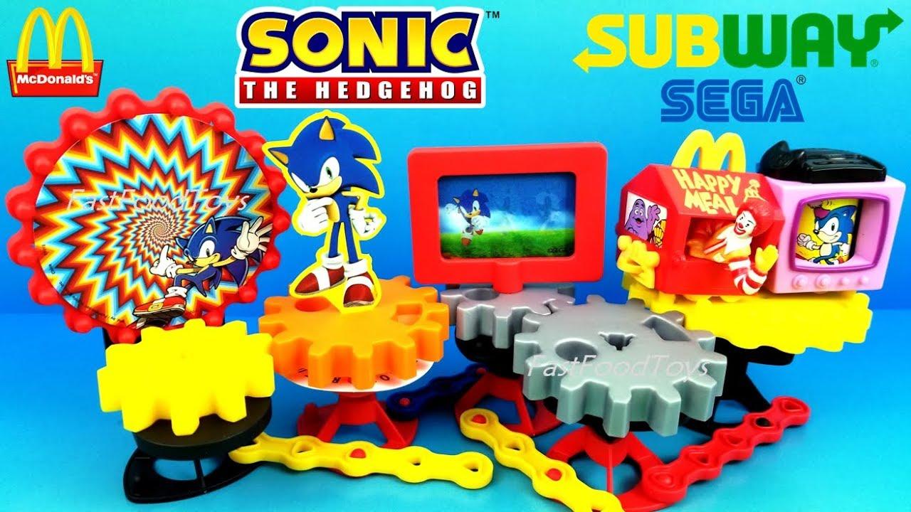 Mcdonald S Sonic The Hedgehog Happy Meal Toys 2018 Subway Sonic Sega