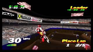 VMX Racing PSX (Playstation) Championship - 01 - Anheim Supercross