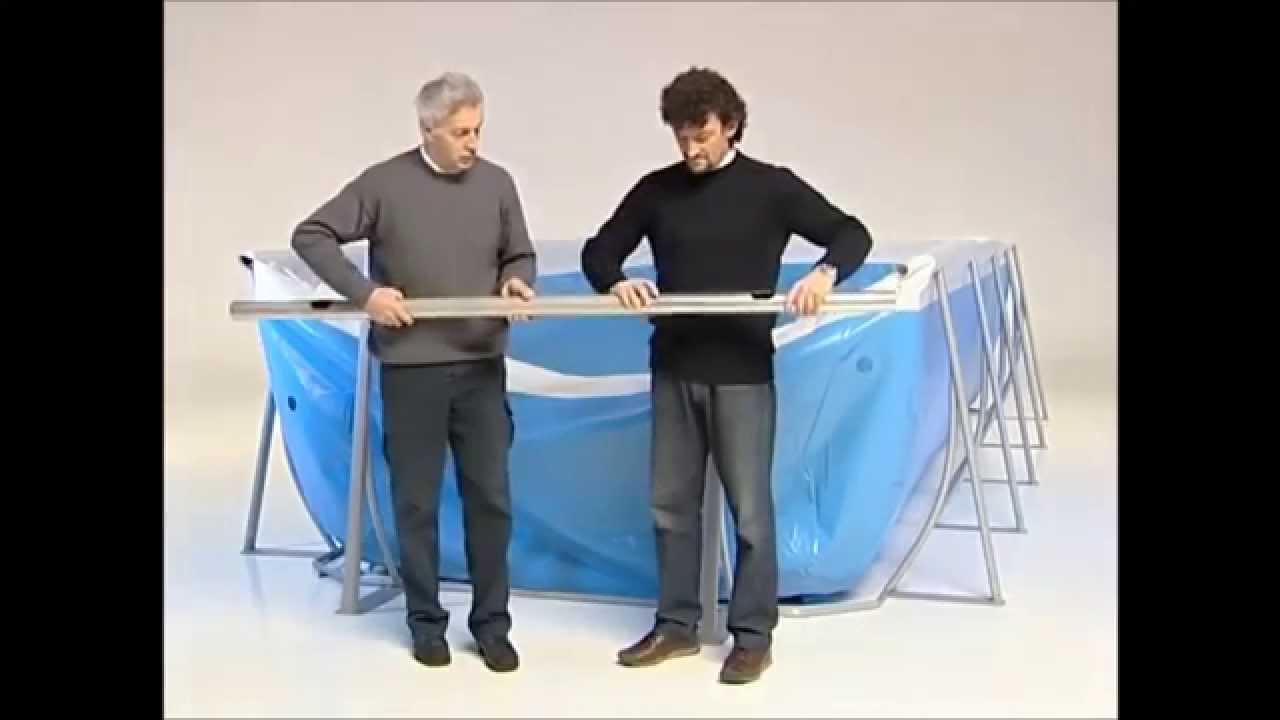 Installazione piscine new plast technypools youtube for Piscines enterrees
