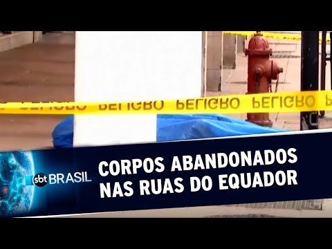 Corpos De Vítimas Do Novo Coronavírus São Abandonados Nas Ruas Do Equador | SBT Brasil (02/04/20)