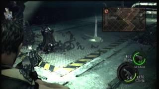 Lets Play Resident Evil 5 part 23 - Biggest.Leech.ever.
