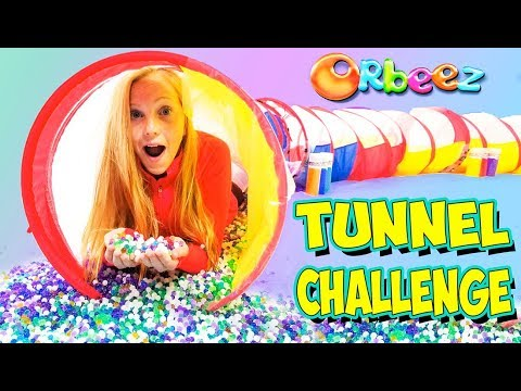 Millions of ORBEEZ FILLED Tunnel Game Challenge!!   Official Orbeez thumbnail