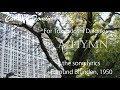 COLLEGE HYMN Edmund Blundenの詩による東京女子大学カレッジヒム(1950年) English …
