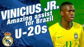 VINICIUS JR. amazing assist for Brazil U-20s