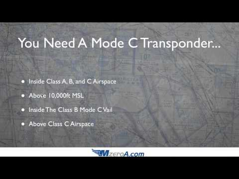 When Do You Need A Mode C Transponder? - Day 25 #31DaySPC