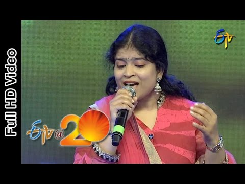 Usha Performance -  Rajasekhara Song in Eluru ETV @ 20 Celebrations