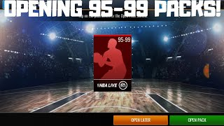 OPENING TWO 95-99 PACKS IN NBA LIVE MOBILE 19!!!