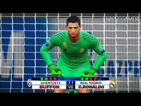 BUFFON vs C.RONALDO goalkeeper | Juventus vs Real Madrid | Penalty Shootout | UEFA Champions League