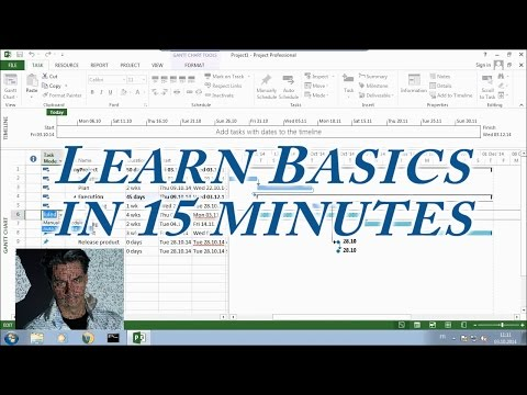 MS Project 2013 #1 ● Learn Basics in 15 Minutes ●  Easy