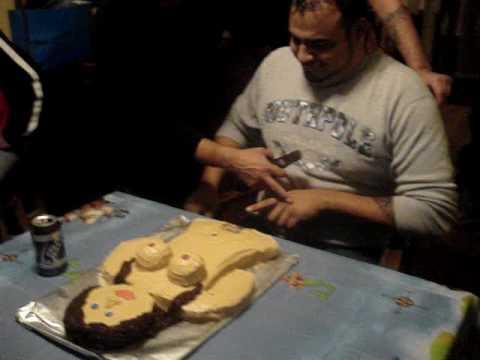 Daniels Naughty birthday cake YouTube