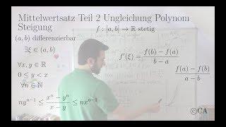 Mittelwertsatz Teil 2 Aufgabe Ungleichung Polynom Steigung (Analysis)