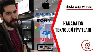 KANADA 'da Teknoloji Fiyatlarını TÜRKİYE ile Karşılaştırdık! │Apple, Samsung, Sony vs.