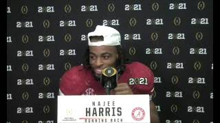 Hear what Najee Harris had to say following Alabama's 2021 CFP National Championship win
