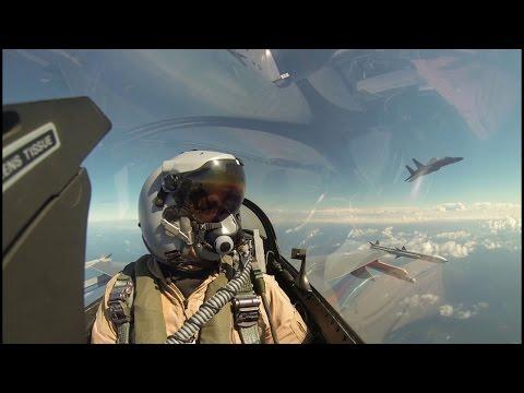 Luchtgevecht F-16 en F-15 boven Noordzee