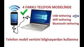 USB tethering Telefonu modem olarak kullanmak USB Bağlantı Türkçe anlatım