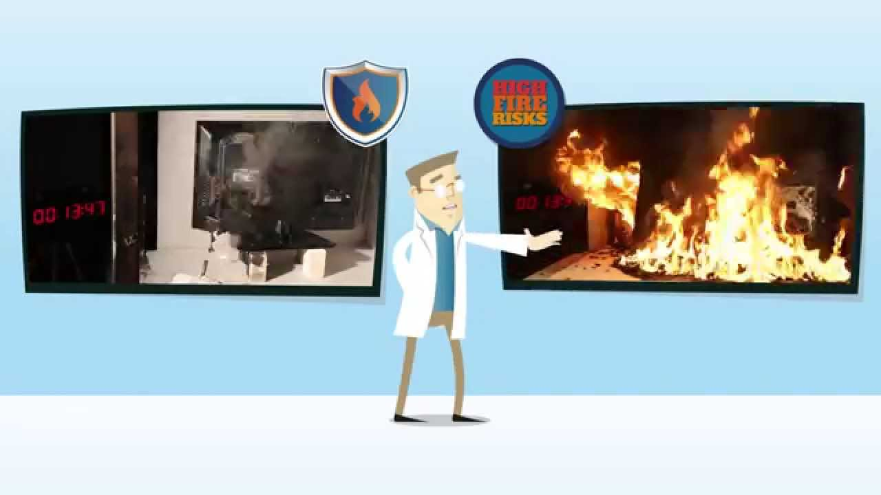Television burning test video: demonstrating the need for high fire safety standards