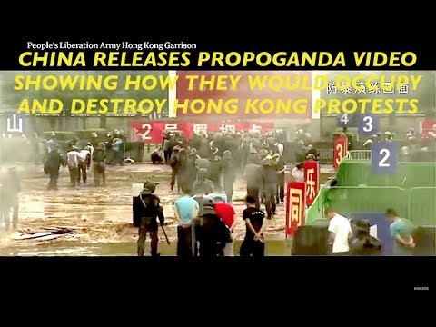 Chinese Military Video Shows Occupation & Annihilation of Hong Kong Protests