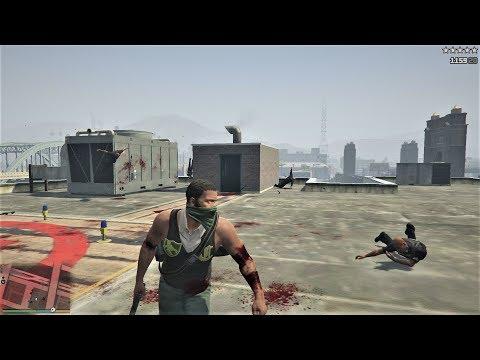 GTA 5 - Franklin's FIVE STAR RAMPAGE At The POLICE STATION! (GTA V Funny Moments)