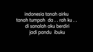 Lirik lagu INDONESIA RAYA lagu kebangsaan Republik Indonesia ( The National AnthemofIndonesia )
