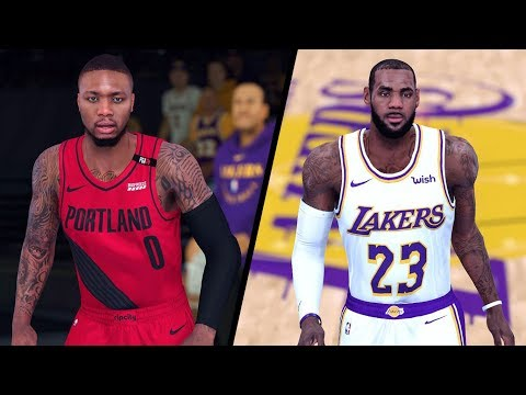 NBA 2K20 Modded Gameplay! - Trail Blazers vs. Lakers - Full Gameplay (NBA 2K19 PC)