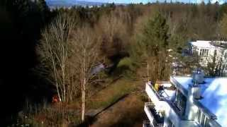Video with Wltoys Q222G FPV Copter with monitor on a winterday