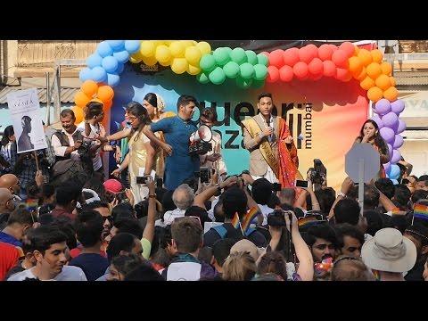 2017 Queer Azaadi Mumbai Pride March HD Video Part 7.Indian LGBT,Gay,Lesbian,transgender India