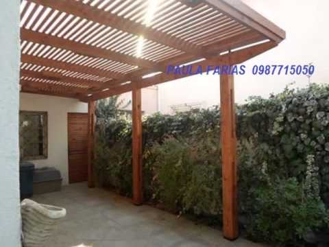 Pergolas en madera juan gomez 0987715050 youtube for Pergola policarbonato