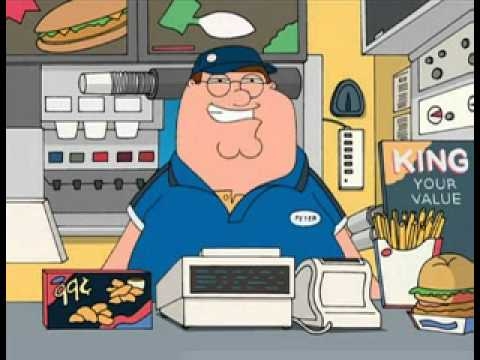 Family Guy: I work at burgerking