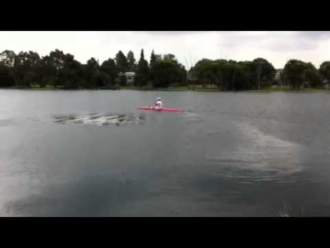 K1 Canoe First time balancing.MOV