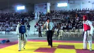 Black Belt Fight 'Sparring' in All India Taekwondo Federation Cup 2012 Pestle Weed College Dehradun  TFI Grand Master Jimmy R Jagtiani India Tkd Video 2
