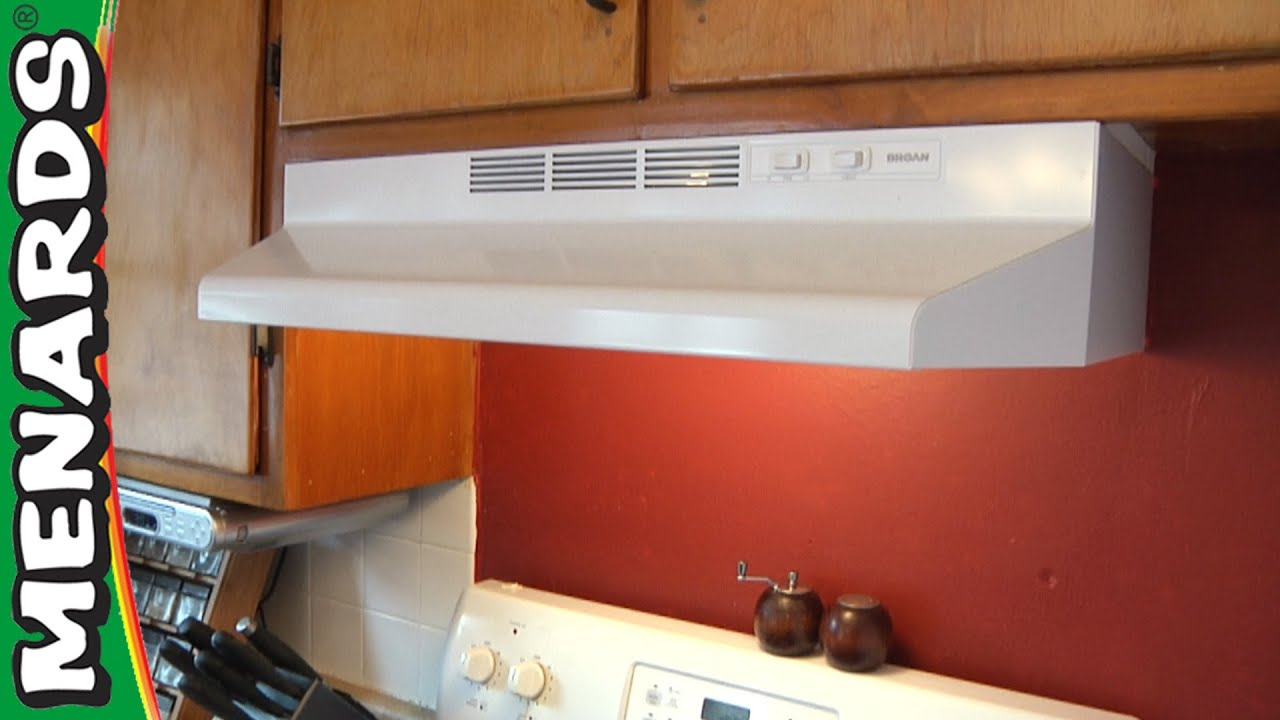 Rangehood how to install menards youtube - How to vent a microwave on an interior wall ...