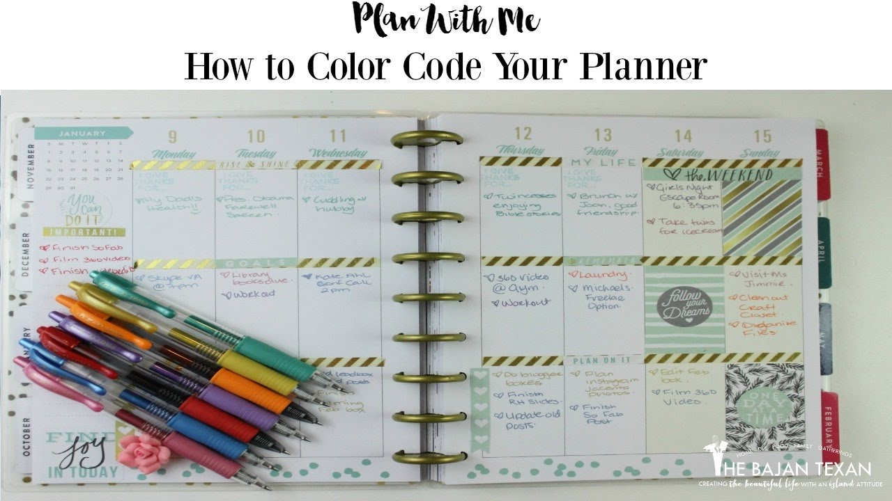 Html Calendar Planner Code : How to color code your planner plan with me happy
