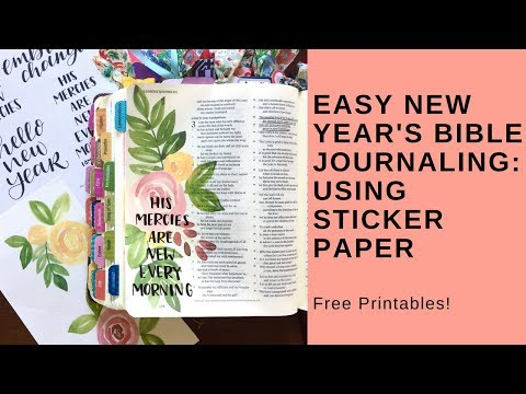 Bible Journal With Me- New Years Free Printable With Sticker Paper