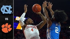 North Carolina vs. Clemson Basketball Highlights (2018-19)