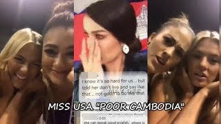 MISS USA MOCKS MISS VIETNAM AND MISS CAMBODIA for Not Speaking in English