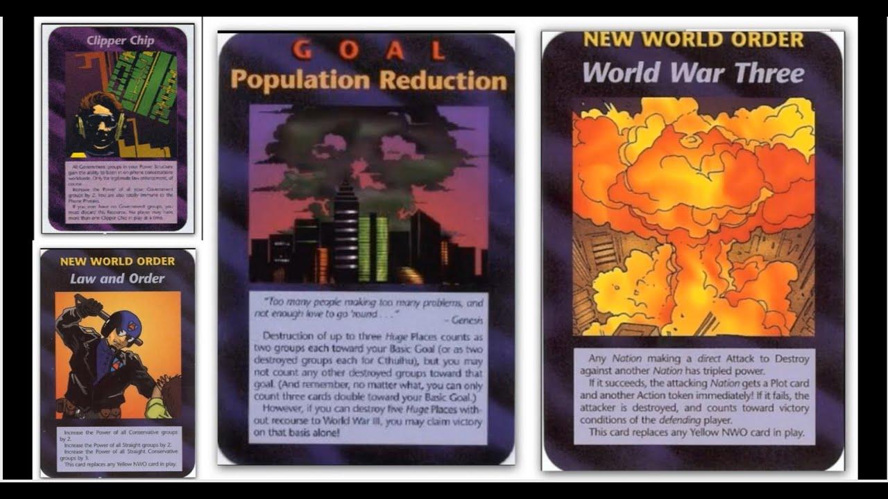 jeu de carte illuminati 18 JEU DE CARTES ILLUMINATI NOUVEL ORDRE MONDIAL 1995 DE STEVE