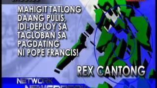 Bacolod, Mahigit Tatlong Daang Pulis, Idi-deploy sa Tacloban sa Pagdating ni Pope Francis!