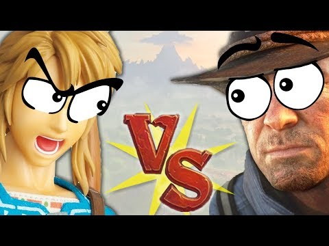 ZELDA vs RED DEAD 2, but explained with food thumbnail