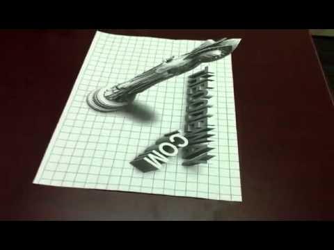 3d Art On Paper Youtube