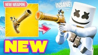 NEW Flint Knock Pistol Gameplay - New Fortnite Update - Use Code ''STI'' - Fortnite Battle Royale