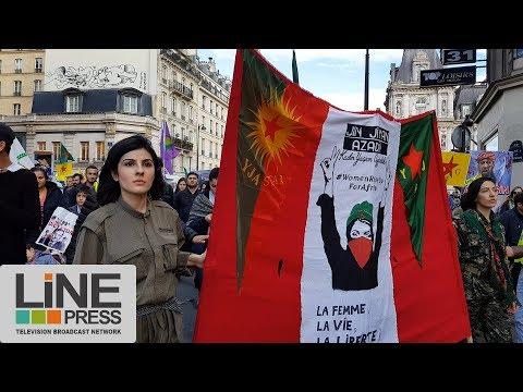 Manifestation des Kurdes pour Afrin / Paris - France 11 mars 2018