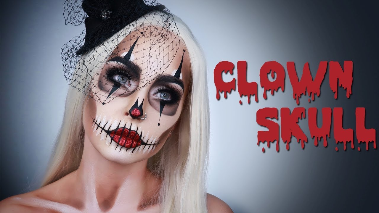 Comment Faire Un Maquillage D Halloween.Clown Skull Maquillage Halloween Youtube