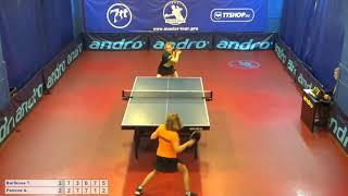 Настольный теннис матч 230518  17 Бурикова Татьяна Панова Анна 3-4 место