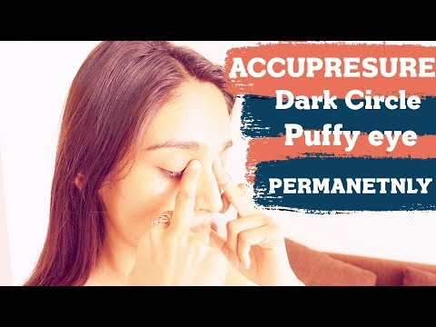 Remove dark circles puffy eyes (FAST) | 4 Acupressure point for eyes massage