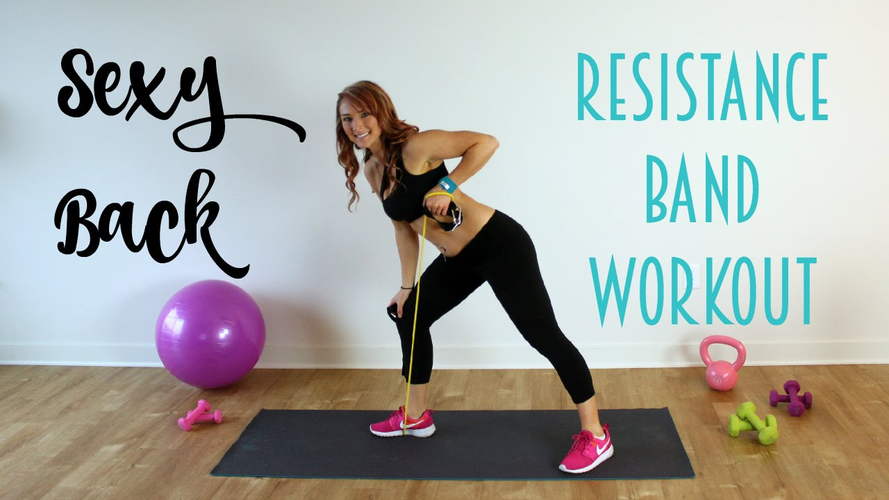 Bringing Sexy Back Resistance Band Back Workout Youtube