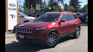 2017 Jeep Cherokee Limited, Backup Camera, Nav, AWD Review| Island Ford