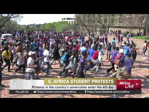 Protests in South Africa universities reach the 4th day